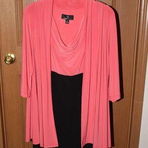 Classy Cowl Neck Dress Jacket Style So Flattering